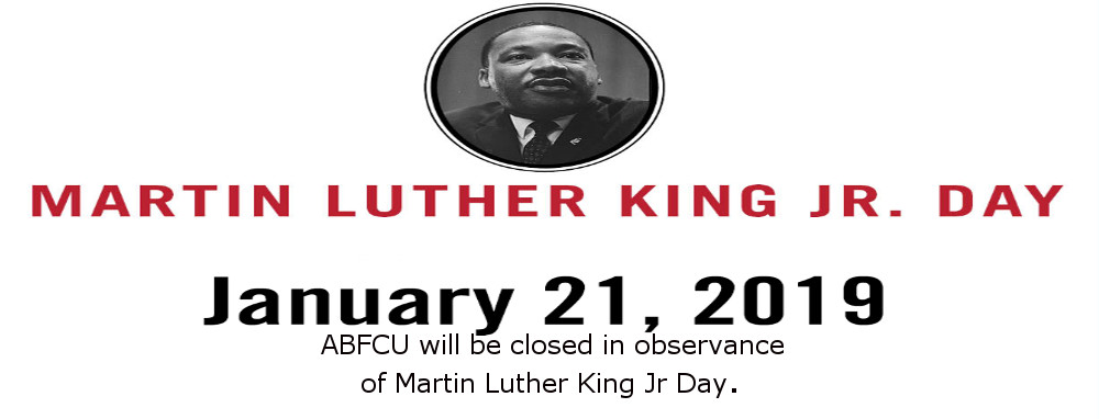 Closed in observance of Martin Luther King Day